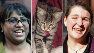 Christine Hemming, Beauty the cat and Emily Cox- pics from PA