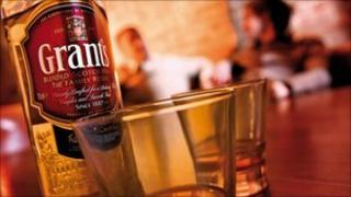 Bottle of Grants whisky