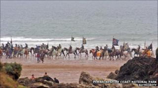 Snow White and the Huntsman filming at Marloes Sands