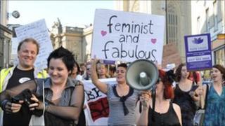 Marchers in Bristol