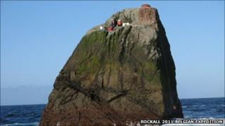 Rockall/Pic: Rockall 2011 Belgian Expedition