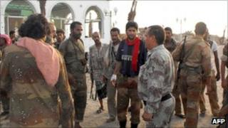 Yemeni troops after retaking Zinjibar - 10 September