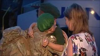 Families welcome back troops to Chivenor