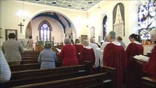 Service at st Botolph's, Knottingley