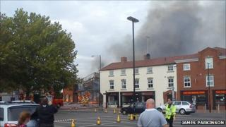 The fire in Kidderminster, pic by James Parkinson