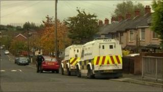 Police carried out searches in north Belfast