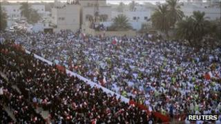 Anti-government Shia protest in Bahrain on 30 September