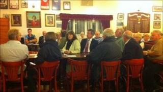 Meeting at Cwmgors