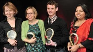 2008 winners: (l-r) Fiona Peek, Vivienne Franzmann, Andrew Sheridan and Naylah Ahmed.
