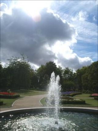 Clifton Park memorial fountain
