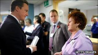 David Cameron at West Suffolk Hospital