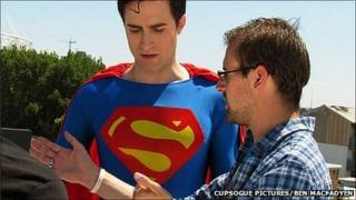 Gene Fallaize directing Superman Requiem lead actor Martin Richardson