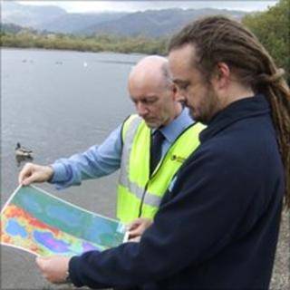 Experts study images of Elterwater