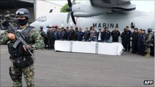Suspects arrested in Veracruz on suspicion of working for the Zetas drug cartel