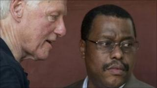 Bill Clinton and Garry Conille