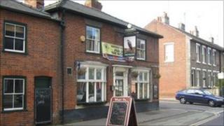 The Falcon pub, Bury St Edmunds