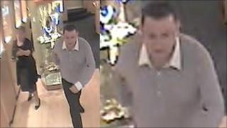 CCTV images of the man who took the ring