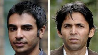 Salman Butt and Mohammad Asif arrive at court