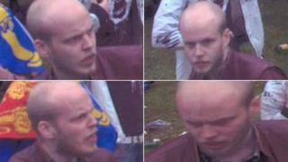 CCTV images of the man