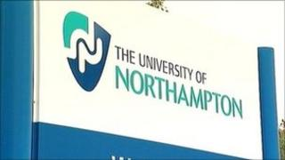 University of Northampton sign