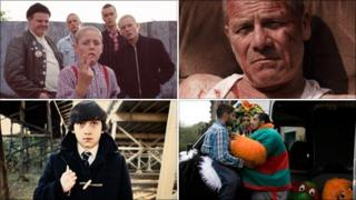 Warp Films productions (clockwise from top left): This Is England, Tyrannosaur, Four Lions, Submarine