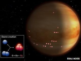 Venus' night side (Credit: ESA/AOES)