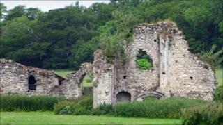 Quarr Abbey ruins