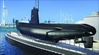 Artists impression of HMS Alliance