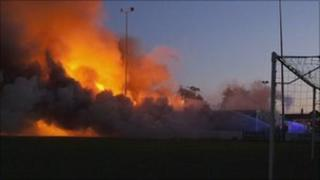 Fire at Deal FC