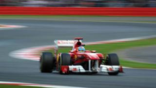 Fernando Alonso of Spain and Ferrari at Silverstone
