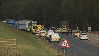 Scene of A46 crash