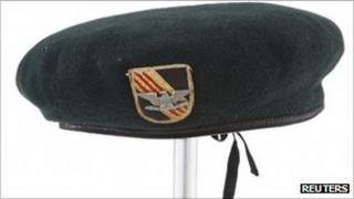 """The green beret John Wayne wore in """"The Green Berets"""" at auction, 7 October 2011"""