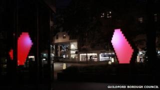 Guildford light sculpture