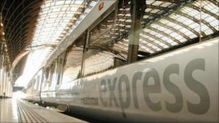 A Heathrow Express train