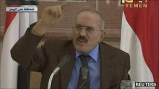 Yemeni President Ali Abdullah Saleh - in speech broadcast 08/10/2011