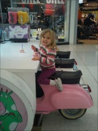 Chris White took this picture of daughter Hazel in Braehead shopping centre
