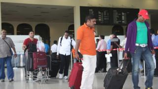Bandaranaike International Airport outside Colombo