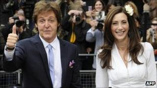 Sir Paul McCartney and Nancy Shevell after their wedding