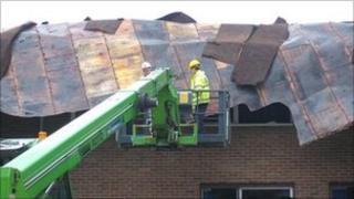 Roof at Burton Borough School