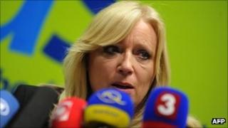 Slovakian Prime Minister Iveta Radicova