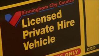 Licensed private hire sticker