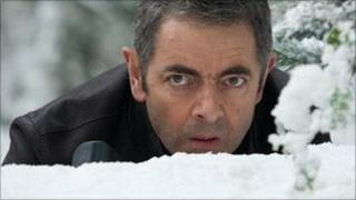 Rowan Atkinson in Johnny English Reborn