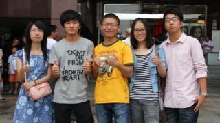 Chinese and Taiwanese students at Taichung