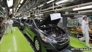 Car factory in Japan