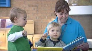 Children at Sure Start centre