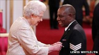 Sgt Hylton awarded MBE by the Queen