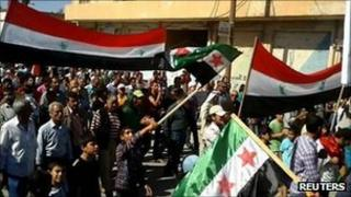 Anti-Assad Protesters in Syria