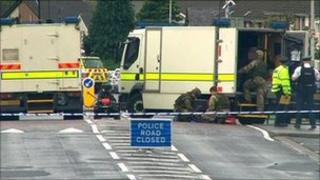 A number of people were moved from neighbouring homes due to the alert.