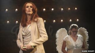 Catherine Tate in GodBlog which is Jeanette Winterson's take on Genesis as part of Sixty-Six Books (Photo: Mark Douet)