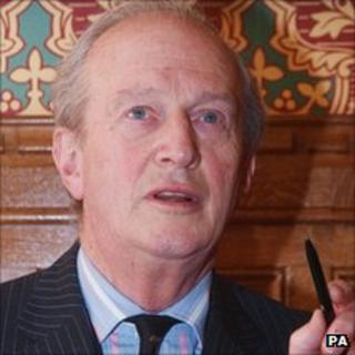 Lord Hunt pictured during a press conference in March 2011 at the House of Lords